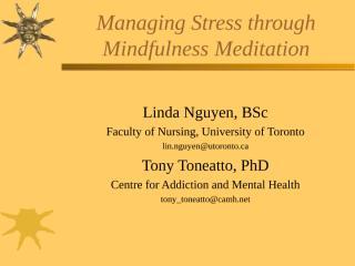 Managing Stress Through Mindfullness Meditation.ppt
