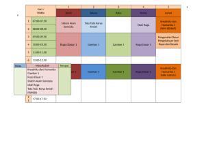 Jadwal kuliah semester 1.docx