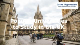 Popular Universities to Study in the UK.PPTX
