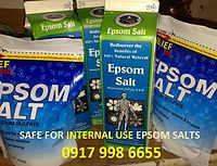 WARNING: MAKE SURE THE EPSOM SALT     YOU ARE BUYING IS SAFE FOR INTERNAL USE / INGESTION, AND IS FOOD GRADE!    DO NOT USE other BODY SCRUB BATH EPSOM SALT FOR HUMAN CONSUMPTION OR FOR TREATMENTS!!!