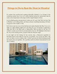 Things to do to Beat the Heat in Mumbai.pdf