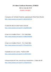 39 Vídeos Católicos Recentes, ÓTIMOS!.pdf