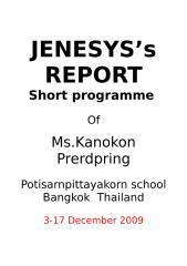 JENESYS's report.doc