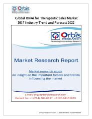 Global RNAi for Therapeutic Sales Market 2017 Industry Trend and Forecast 2022.pdf