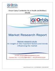 Ocean Spray Cranberries Inc in Health and Wellness (World) Market.pdf