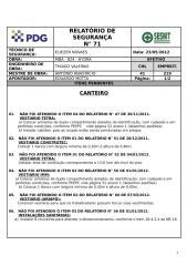 MBA_824 23.05.2012 Relatório de Segurança nº 71 - CANTEIRO.doc