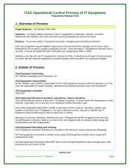 Operational Control Process of  IT&S Equipment V.1.doc