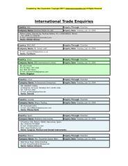 Trade Enquiries.doc