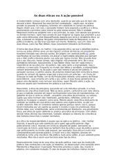 As duas éticas ou A ação possível.doc
