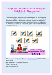 Computer Courses at TCCI at Bopal-Satellite in ahmedabad.doc