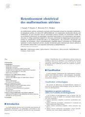 Retentissement obstétrical des malformations utérines.pdf