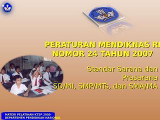 Permendiknas No.24 Tahun 2007.ppt