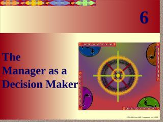 Chpt06 mANAGER AS DECISION MAKER.ppt
