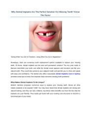 Why Dental Implants Are The Perfect Solution For Missing Teeth.docx
