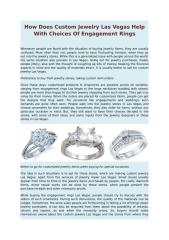 How Does Custom Jewelry Las Vegas Help With Choices Of Engagement Rings.doc
