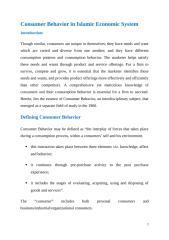 Consumer Behavior in Islamic Economic System.docx