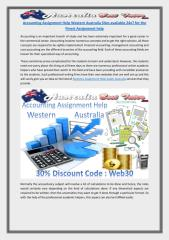 Accounting Assignment Help Western Australia Sites available 24x7 for the Finest Assignment help.pdf