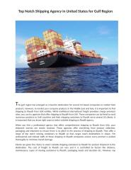 Top Notch Shipping Agency in United States for Gulf Region.docx